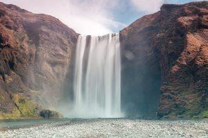 Skógafoss Wasserfall in Island