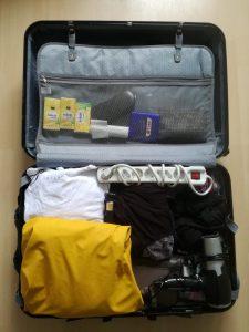 Falten Koffer Platz sparen