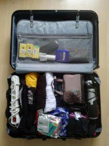Rollen Koffer Platz Sparen