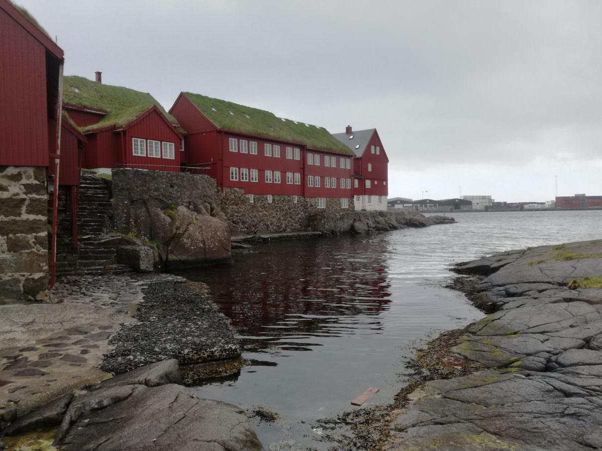 Tinganes - Regierungsviertel von Tórshavn Färöer Inseln