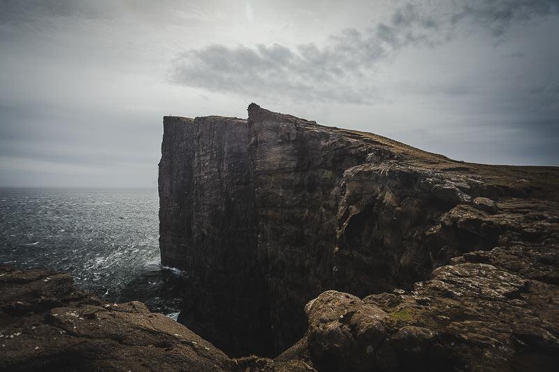Trælanípan, die berühmte Steilklippe. Färöer Inseln, Vágar, Fotospots auf den Färöer Inseln