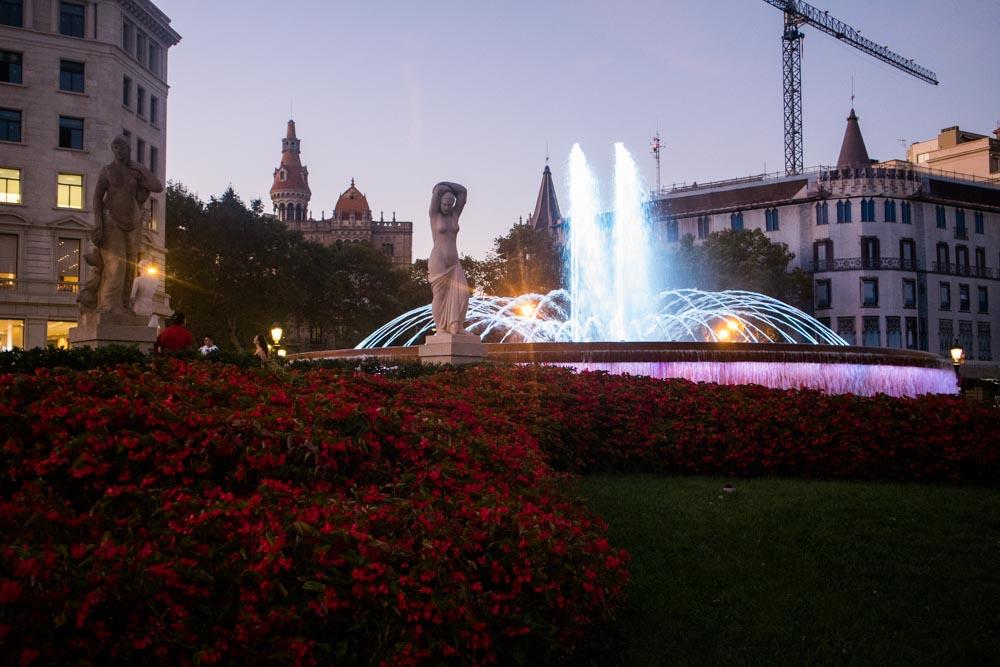 Barcelona Spanien Backpacking